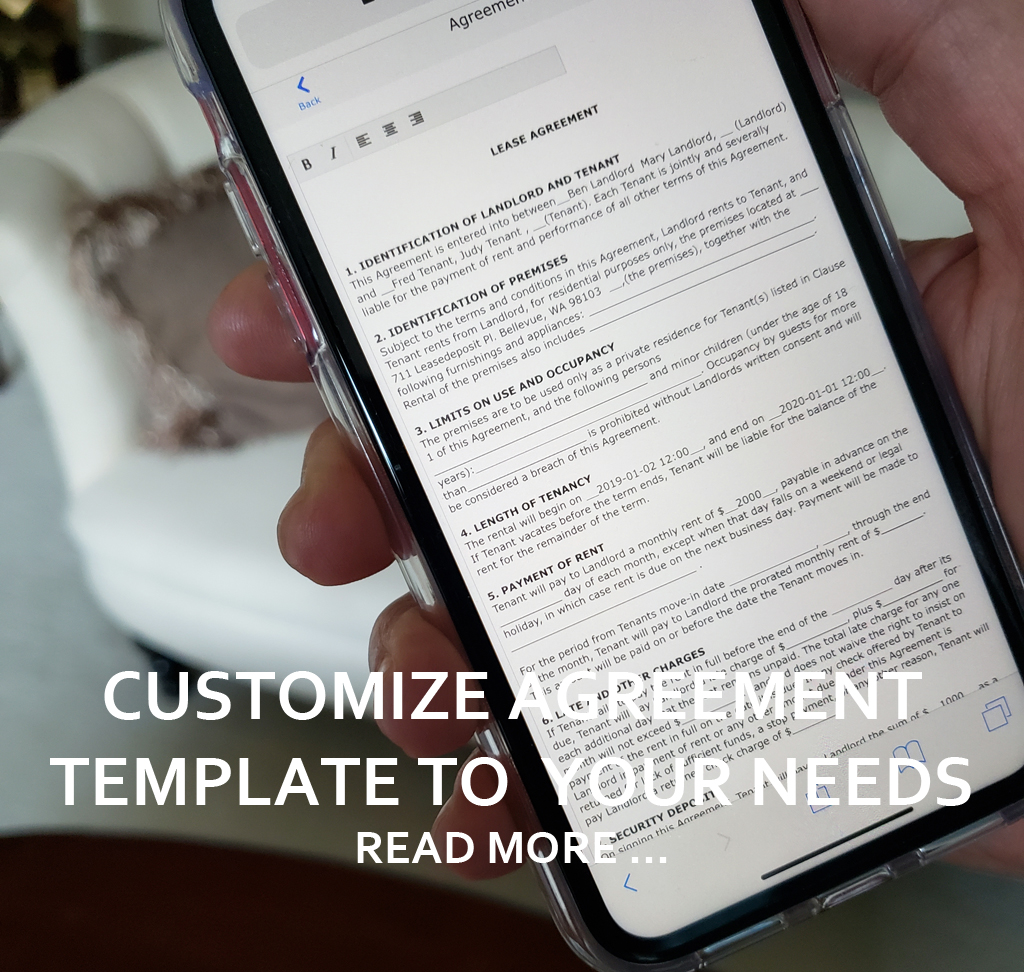 SAVE TIME WITH AGREEMENT CUSTOMIZATION